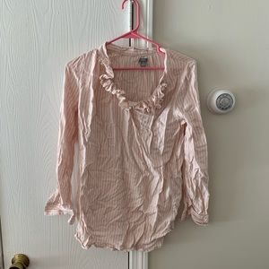 Light pink and white stripe blouse